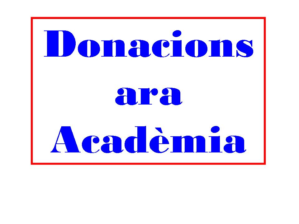 DONACIONS ARA ACADÈMIA