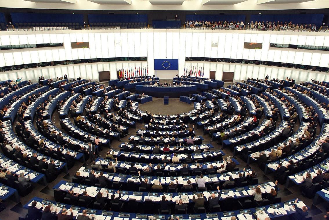 Hemiciclo Del Parlamento Europeo En Estrasburgo
