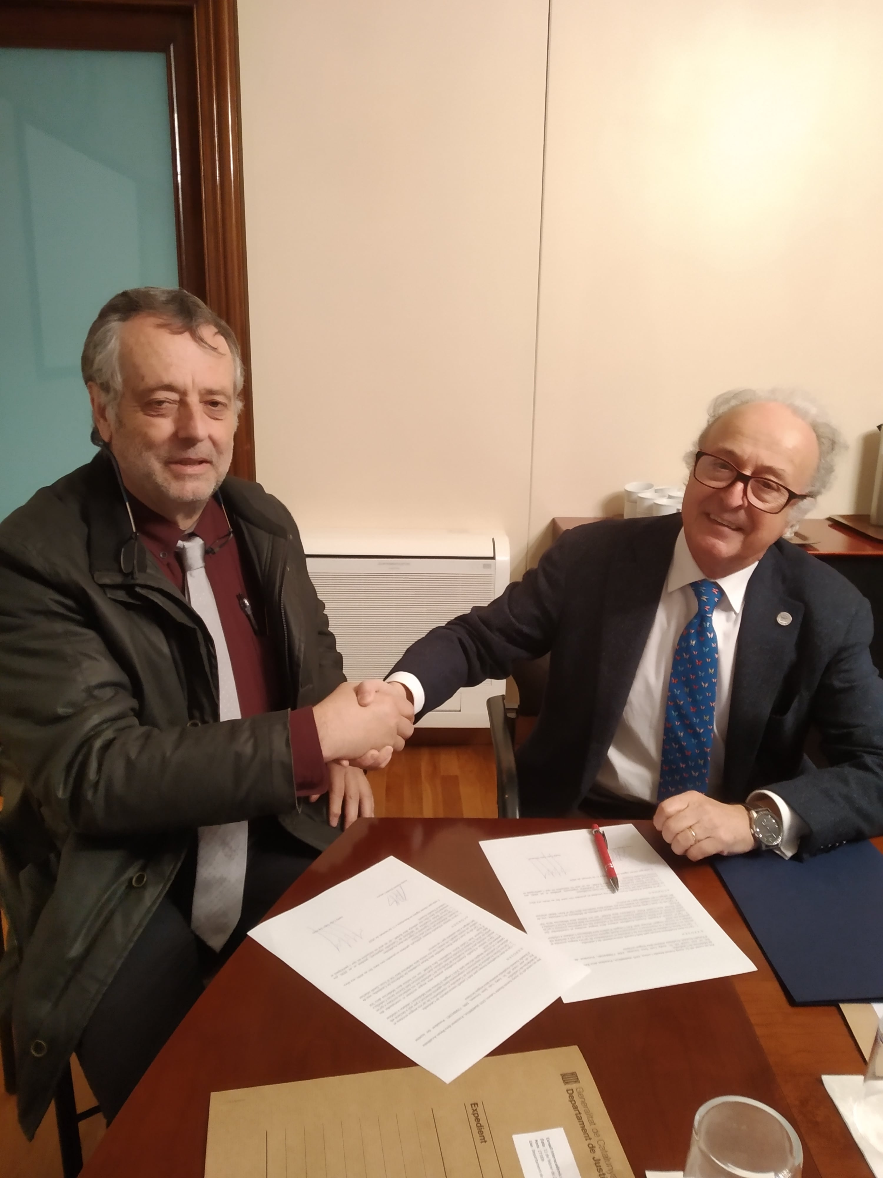 Signatura De Convèni Entre Era RAMC E Er IEA-AALO