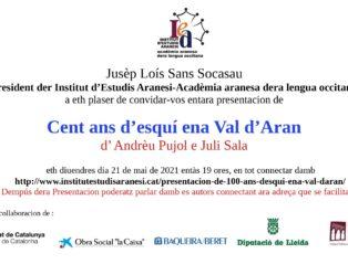 PRESENTACION DE 100 ANS D'ESQUÍ ENA VAL D'ARAN